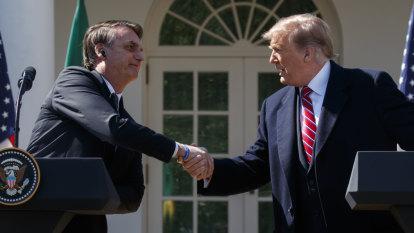 Trump buddies up with Bolsonaro, the 'Trump of the Tropics'