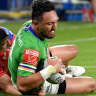 Clambering Canberra surge past Dragons into top eight with gritty win