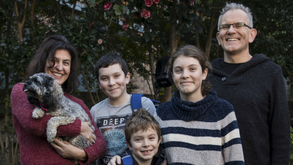 Steve and Michelle McKenna's sons Travis (12) and Kurt (6) have secured spots at Lindfield Learning Village.