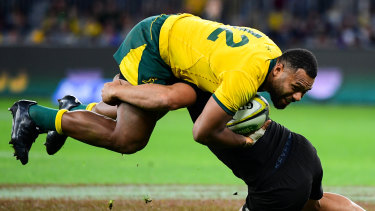 Samu Kerevi was outstanding for the Wallabies.