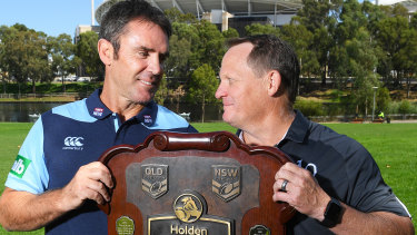 Queensland coach Kevin Walters (right) believes he'll still get a chance to go head-to-head with NSW counterpart Brad Fittler this year.