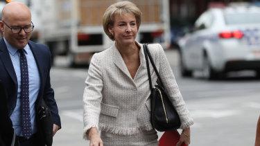 Senator Michaelia Cash heads to court on Friday.