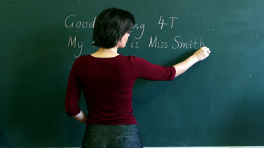 Teachers' salaries have fallen well behind the professional average.