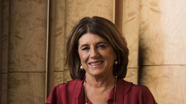 Caroline Wilson shortly before delivering the Andrew Olle lecture.