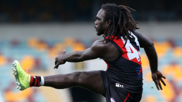 Missing in action: Essendon's Anthony McDonald-Tipungwuti.