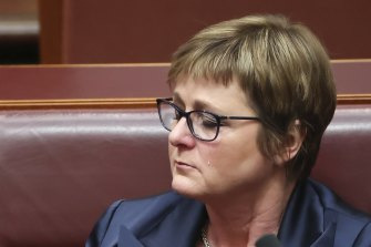 Defence Minister Linda Reynolds during question time last week.