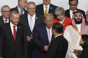 The G20 summit in Osaka is a humbling moment for most of the leaders of the world's biggest economies, looking to just two of them to make the biggest decisions.