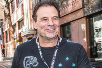 CFMEU boss John Setka leaves the ACTU office after meeting with Sally McManus.