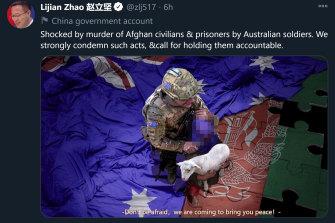 Lijian Zhao's tweet.