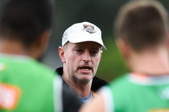 Michael Maguire has enjoyed seeing the banter and in-house competitions among Wests Tigers players.
