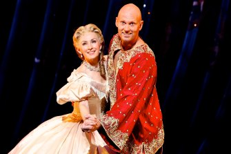 Teddy Tahu Thodes and Lisa McCune in The King and I in 2014.