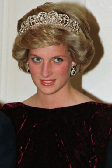 Princess Diana wears the Spencer tiara at Government House in Adelaide in 1985.