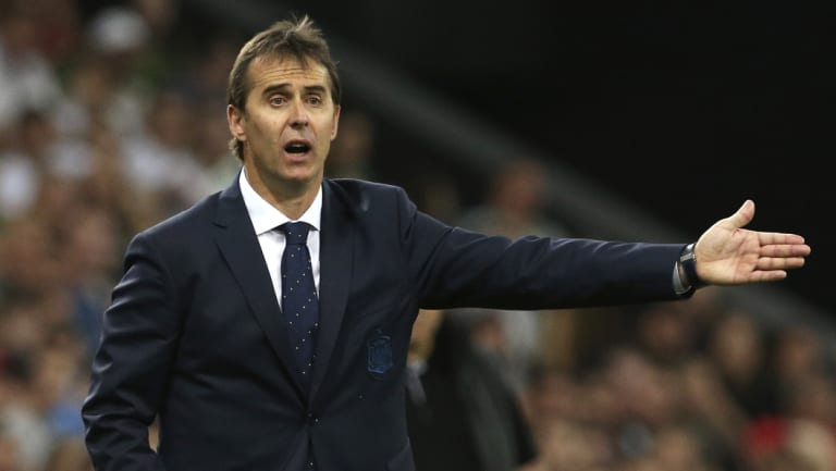 Axed: Julen Lopetegui was sacked by Spain after it was announced he'd take over at Real Madrid.