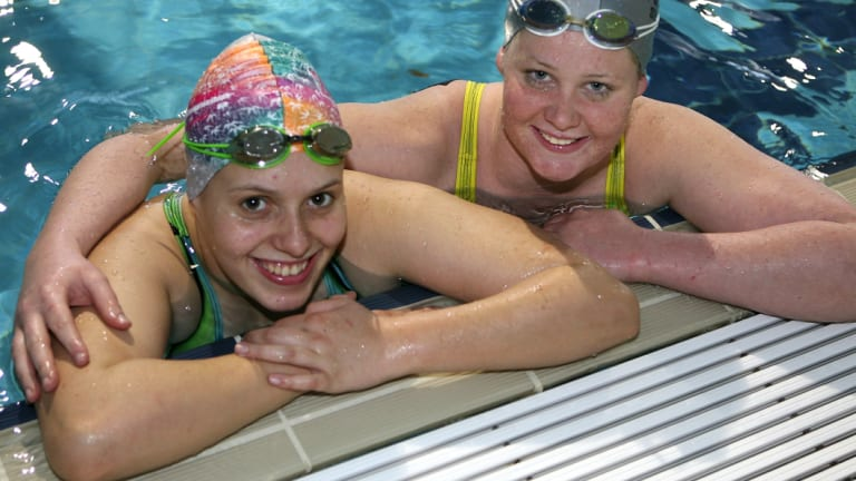 Amanda Fowler (now known as Amanda Reid), left, ahead of the 2012 London Olympics.