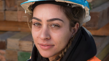 Demi Lebessis is a builder's labourer. Picture: Jason South.