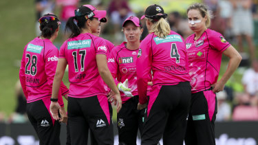 Equal but different: The Sydney Sixers WBBL team.