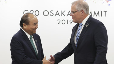 Scott Morrison and Vietnamese counterpart Nguyen Xuan Phuc will rekindle their relationship in Hanoi on Friday.
