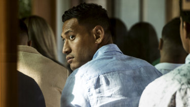 Israel Folau is facing termination of his contract.