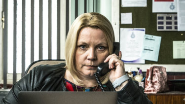 Joanna Scanlan is a standout as DI Viv Deering in the wonderfully black No Offence.