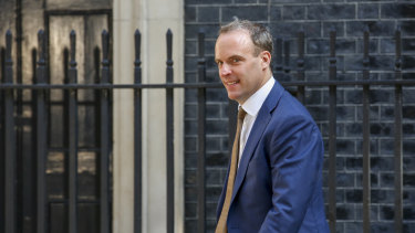 New British Foreign Secretary Dominic Raab.