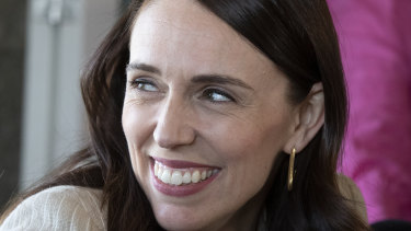 Jacinda Ardern at an Auckland cafe the day after her big election win.