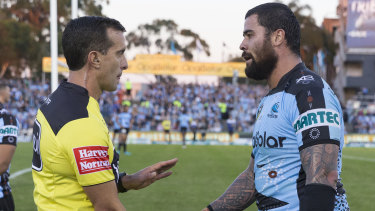 Written warning: Cronulla's Andrew Fifita is in strife once again.