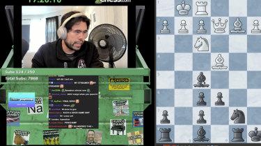 Chess grandmaster Hikaru Nakamura's Twitch stream.
