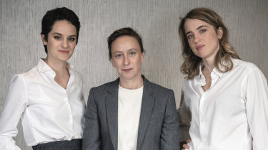 From left, Noemie Merlant, Celine Sciamma and  Adele Haenel tackle female taboos in Portrait of a Lady on Fire.