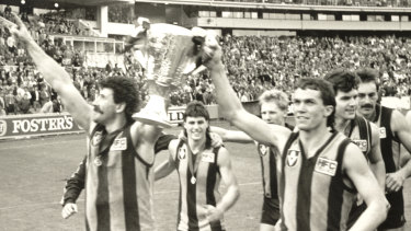 Hawthorn smashed the Dees in the 1988 grand final.