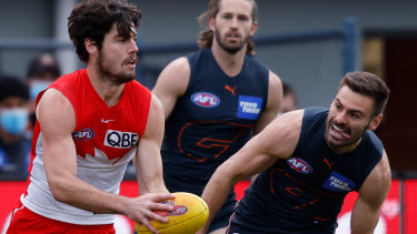 Blues target and current Sydney Swan George Hewett.