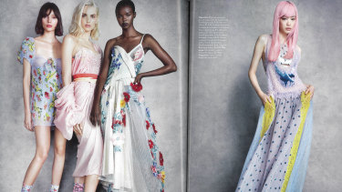 The Vogue Australia fashion shoot shot by Demarchelier in the April issue.
