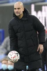 Manchester City's head coach Pep Guardiola.