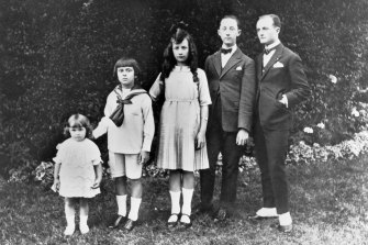 The Dior children, from left, Catherine, Bernard, Jacqueline, Christian and Raymond.