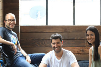 Canva co-founders Cameron Adams, Cliff Obrecht and Melanie Perkins are now worth an estimated $8 billion.