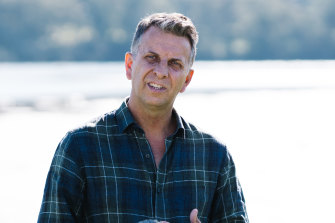 Andrew Constance announcing his intention to run in Eden-Monaro on Tuesday.