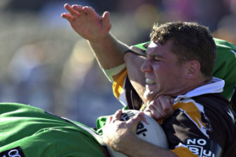 Promise: O'Donnell made his NRL debut as a 20-year-old for the Wests Tigers in 2001.