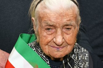 Giuseppina Robucci died on Tuesday in the southern Italian town of Poggio Imperiale, where she was born in 1903.