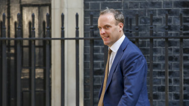 New British Foreign Secretary Dominic Raab.
