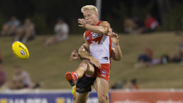 Up and comer: Youngster Isaac Heeney will play a key role in Sydney's midfield.