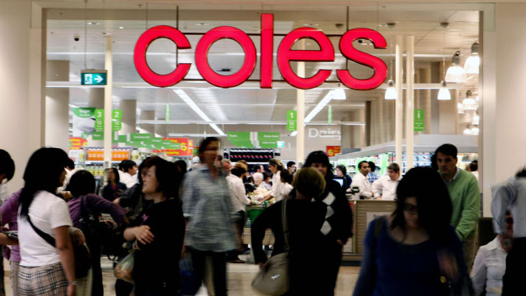 Down down: Coles stores across the country are closed owing to an IT issue affecting cash registers.