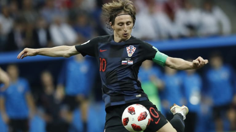 Triumph: Croatia's Luka Modric has taken out the UEFA award for the first time.