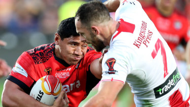 New powerhouse: Jason Taumalolo's Tonga were the smash hit of the Rugby League World Cup.