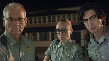 Bill Murray, Chloë Sevigny and Adam Driver in The Dead Don't Die.
