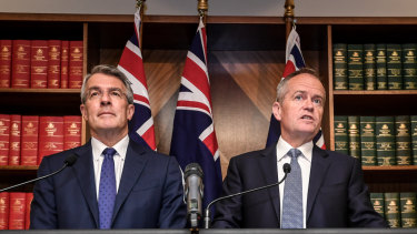 Shadow attorney-general Mark Dreyfus and Labor Leader Bill Shorten have drawn a line in the sand on national security.