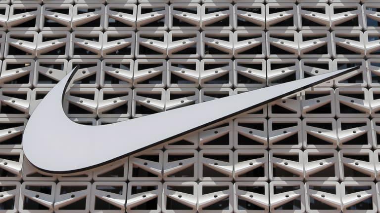 Maximum exposure: the Nike logo.