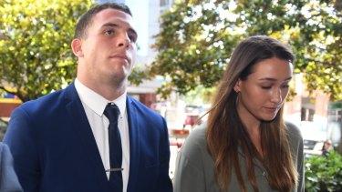 Adam Elliott arriving at court on Monday.