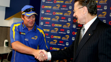 Pre-purgatory: Daniel Anderson after being appointed Eels coach back in 2008.