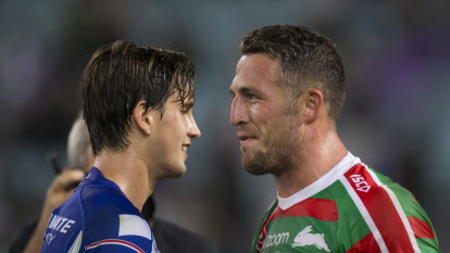 Burgess tips cap to 'good character' Lewis after second on-field clash