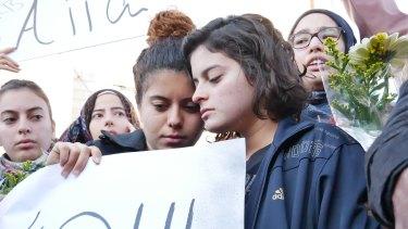 Noor (left) and Ruba Maasarwe  mourn their sister.