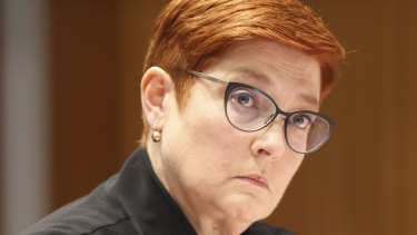 Foreign Affairs Minister Marise Payne has hit out at closed trials in China but Australia does not have clean hands.